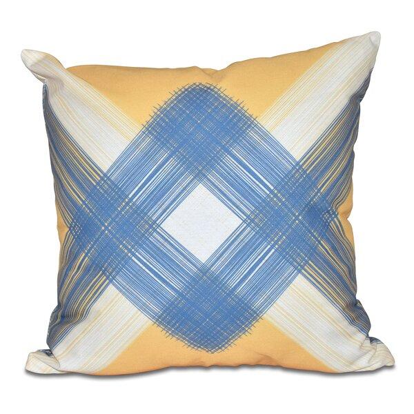 Hancock String Art Geometric Print Throw Pillow by Breakwater Bay