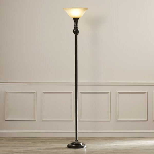 Oxley 72 Torchiere Floor Lamp by Charlton Home