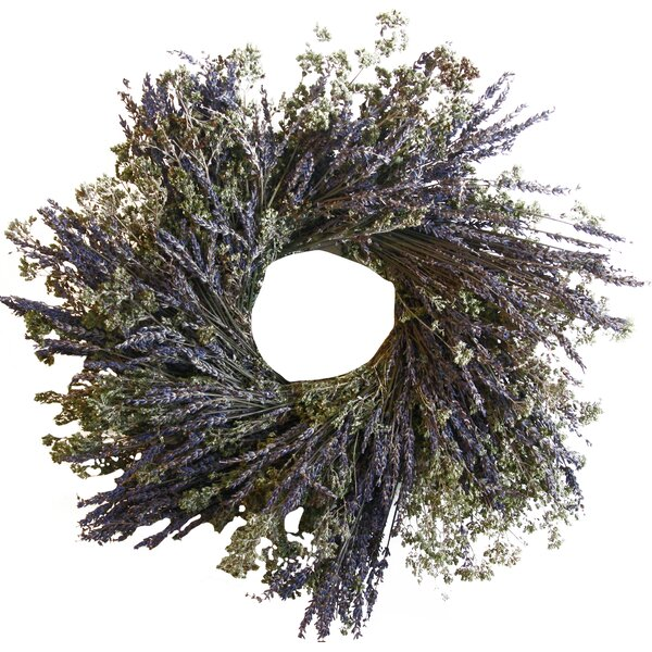 16 Lavender and Oregano Wreath by From the Garden