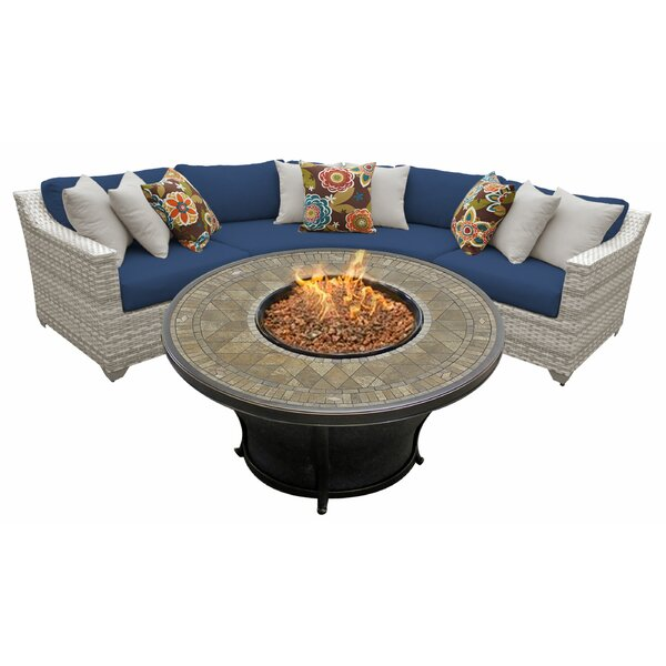 Falmouth 4 Sectional Seating Group with Cushions by Sol 72 Outdoor