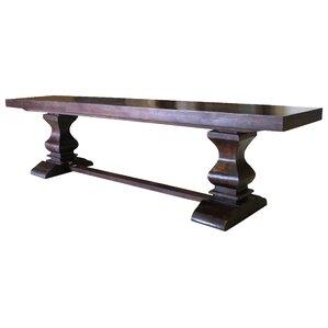 Maliyah Pedestal Wood Bench by Longshore Tides
