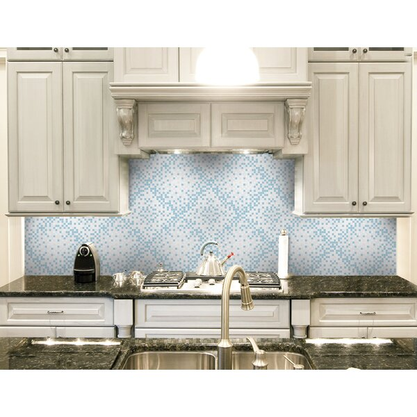 Urban Essentials Scatter 3/4 x 3/4 Glass Glossy Mosaic in Breeze Blue by Mosaic Loft
