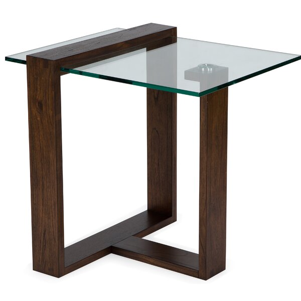 Khan End Table by Orren Ellis