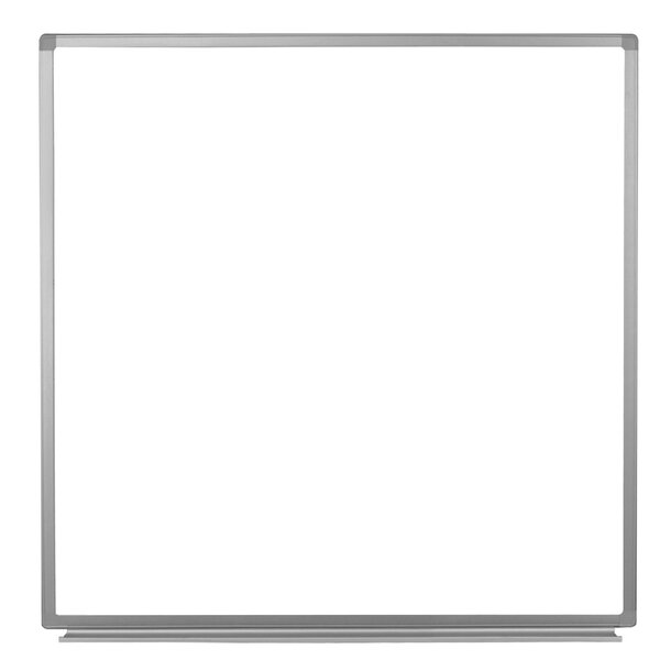 Wall-Mounted Magnetic Whiteboard, 48 x 48 by Luxor