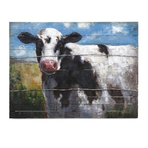 Lester Cow by Ella Elaine Painting Print by IMAX