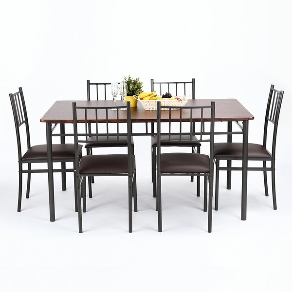 Copemish 7 Piece Dining Set by Ebern Designs Ebern Designs