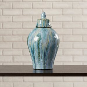 dripped ceramic decorative urn