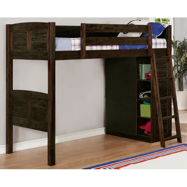 Ilario Twin Loft Bed with Drawers and Shelves by Birch Lane™ Heritage
