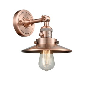 Read Reviews Mikesell 1-Light Armed Sconce By Williston Forge