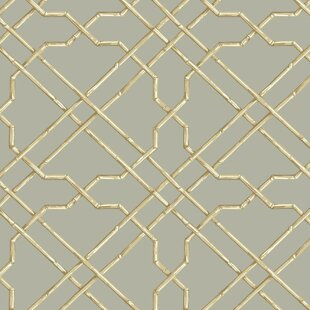Grey Trellis Wallpaper