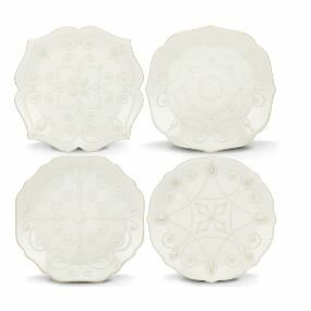 French Perle 4 Piece 7.5 Charger Plate Set by Lenox