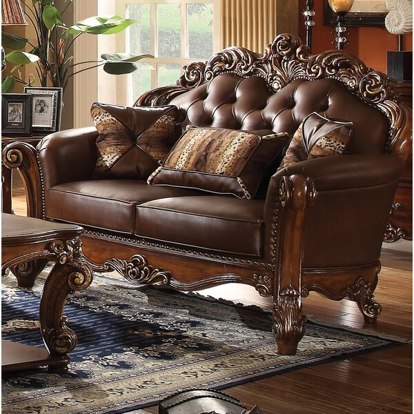 Amorsolo Loveseat With Pillow By Astoria Grand