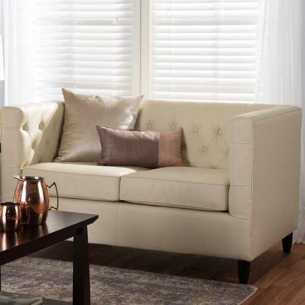 Madeleine Chesterfield Loveseat by Darby Home Co