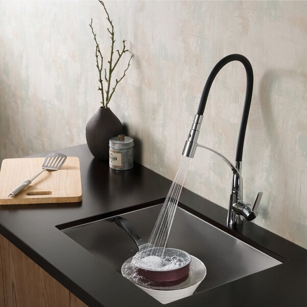 CarboFlex™ Pull Down Single Handle Kitchen Faucet by Kraus