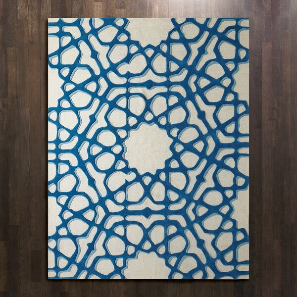 Rose Window Hand Tufted Wool Blue Area Rug by Global Views