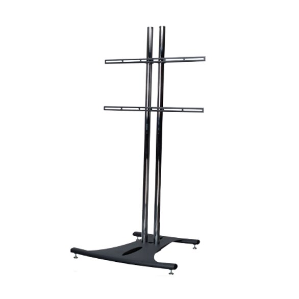 Floor Stand with 72 Dual Poles and Universal Flat Mount by Premier Mounts