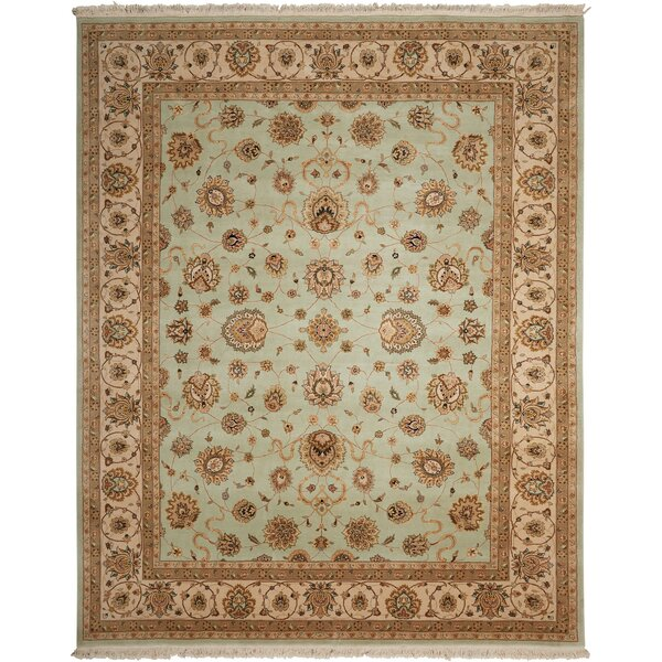 Dunluce Hand-Knotted Wool Beige Area Rug by Canora Grey