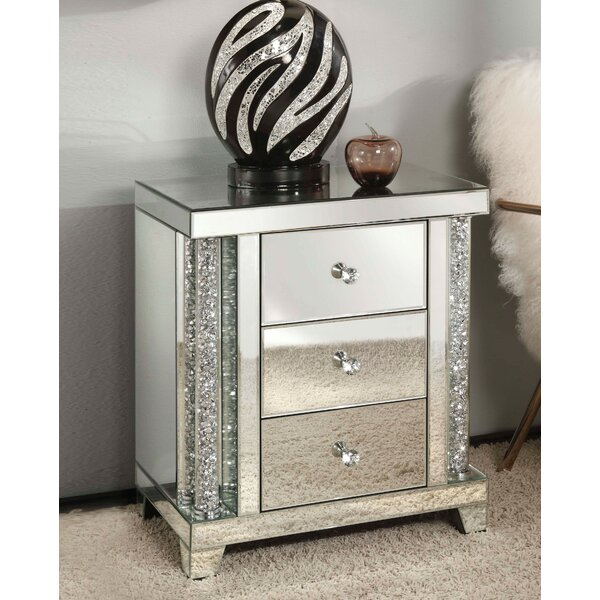 Shelbyville 3 Drawer Nightstand by Rosdorf Park