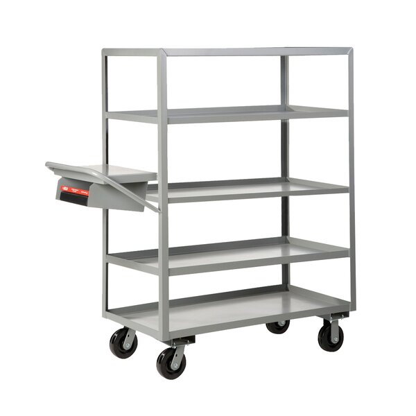 Multi-Shelf Utility Cart with Writing Shelf and Storage Pocket by Little Giant USA