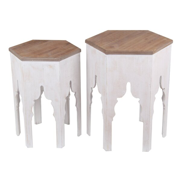 Covell 2 Piece Nesting Tables by Bungalow Rose Bungalow Rose