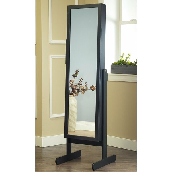 Poar Free Standing Jewelry Armoire with Mirror by Alcott Hill Alcott Hill
