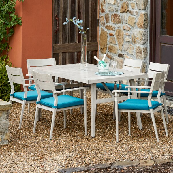 Lee-Robinson 7 Piece Dining Set with Cushions by One Allium Way