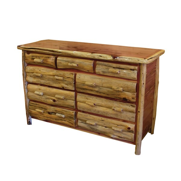 Detroit 9 Drawer Double Dresser by Loon Peak