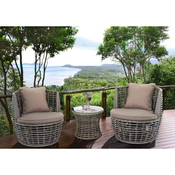 Magari Outdoor Furniture Complete 3 Piece Deep Seating Group U0026 Reviews |  Wayfair