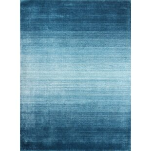 Mount Hand-Knotted Wool Turquoise Area Rug by Williston Forge