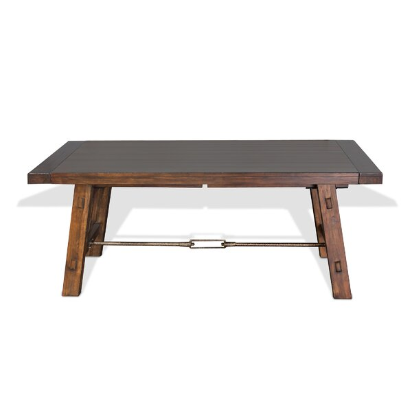 Hardin Extendable Solid Wood Dining Table by Loon Peak
