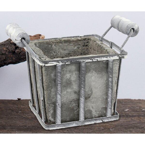 Cement Pot Planter with Handles by CKK Home Décor, LP