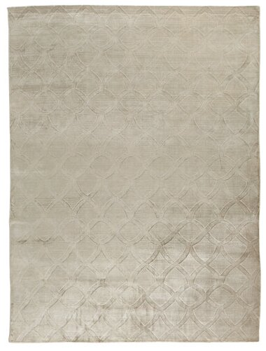 Smooch Carved Hand-Woven Silver Area Rug by Exquisite Rugs