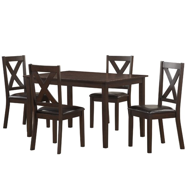 Fitzsimmons 5 Piece Traditional Style Dining Set by Winston Porter Winston Porter