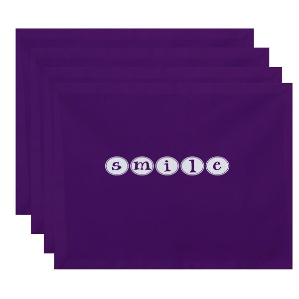 Hoople Smile Print Placemat (Set of 4) by Latitude Run