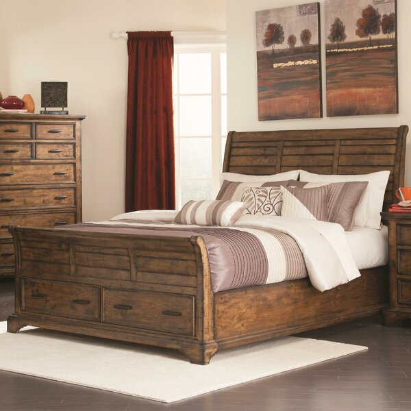 Canup California king Storage Sleigh Bed by Charlton Home