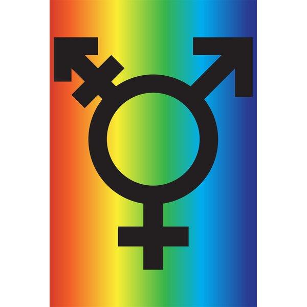 Transgender Flag Garden flag by Toland Home Garden