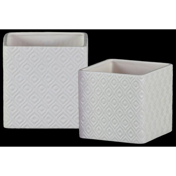 Gurney Slade 2-Piece Ceramic Pot Planter Set by Orren Ellis