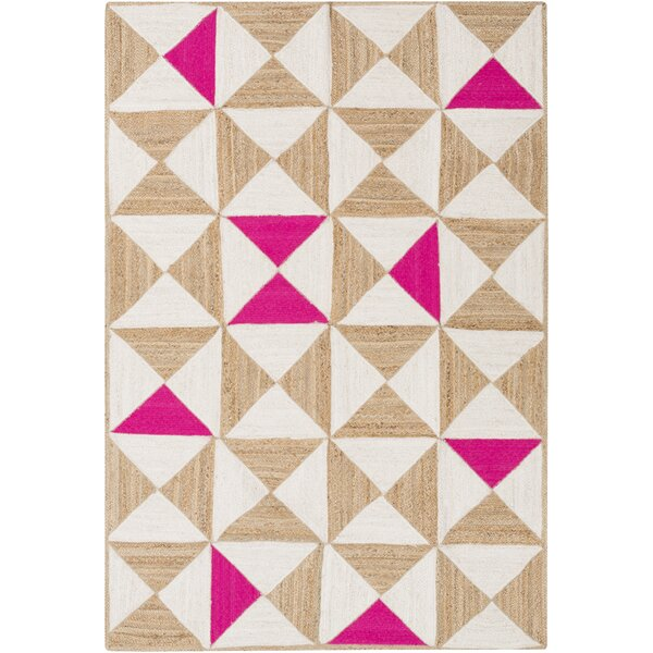 Sherrick Hot Pink Area Rug by Wrought Studio