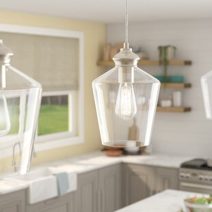 Look for Driftwood 1-Light Cone Pendant By Breakwater Bay