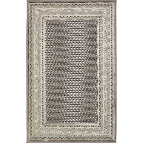 Gillam Gray Area Rug by Three Posts