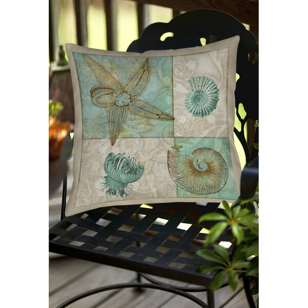 Averill Sea Life 1 Indoor/Outdoor Throw Pillow by Rosecliff Heights
