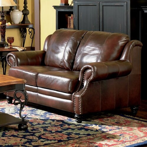 Rosetta Leather Loveseat by Darby Home Co