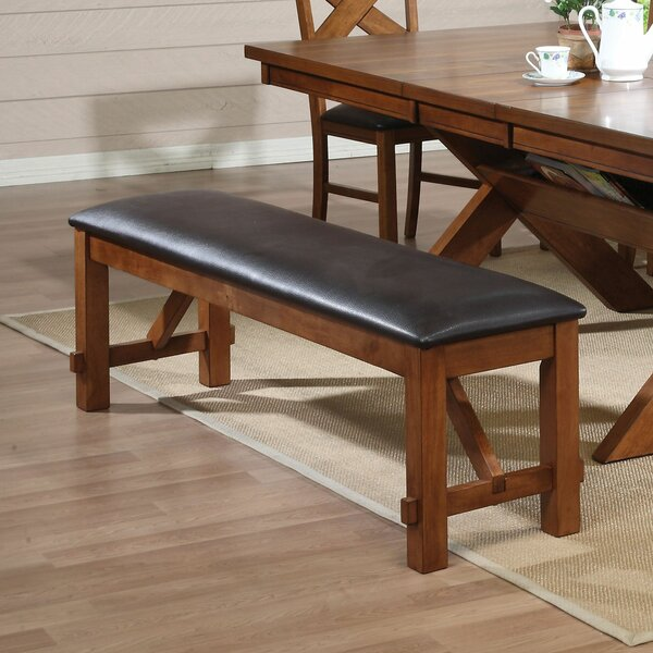 Hayley Faux Leather Bench by Loon Peak