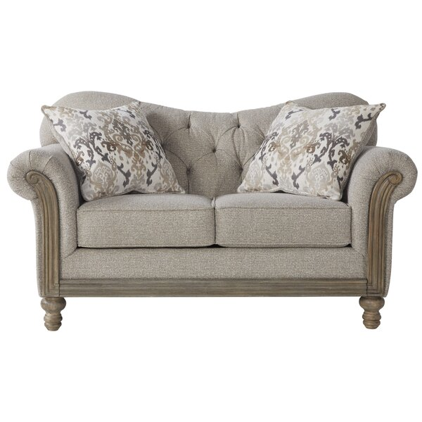 Last Trendy Larrick Fabric Tufted Standard Loveseat by Ophelia & Co. by Ophelia & Co.