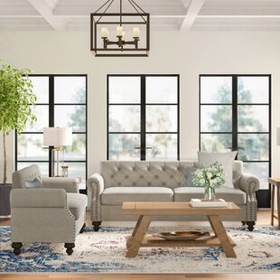 Baring 2 Piece Standard Living Room Set by Three Posts™
