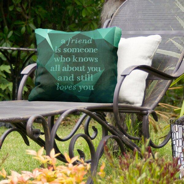 Love and Friendship Indoor/Outdoor Throw Pillow