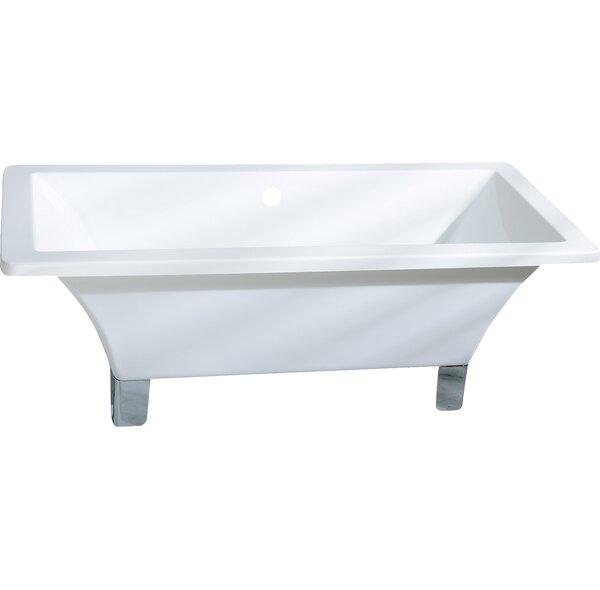 Aqua Eden 67 x 30 Freestanding Soaking Bathtub by Kingston Brass