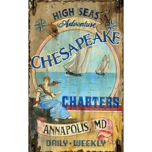 Chesapeake Vintage Advertisement Plaque by Red Horse Arts