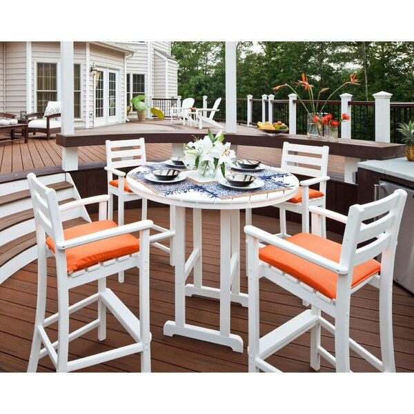 Monterey Bay 5 Piece Bar Height Dining Set by Trex Outdoor