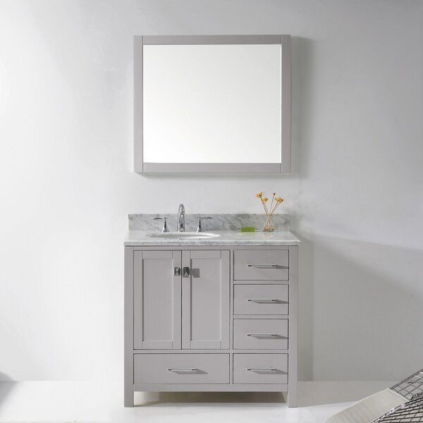 Serigne 35 Single Bathroom Vanity Set with Mirror by Willa Arlo Interiors